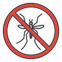 control, disinfection, flying, insect, mosquito, pest, stop icon