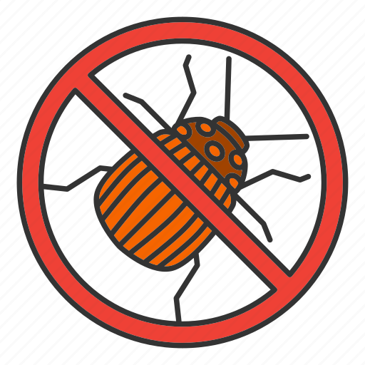 beetle, bug, colorado, insect, pest, potato, stop icon