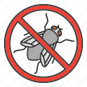 bug, control, flying, housefly, insect, pest, stop icon