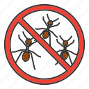 ant, bug, control, eradication, insect, pest, stop icon