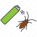 aerosol, cockroach, insect, insecticide, pest, roach, spray icon