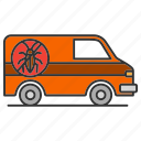 car, control, exterminator, insect, pest, service, vehicle icon