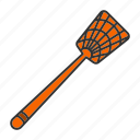 fly-swatter, flyswatter, housefly, insect, mosquito, swatter icon