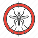 control, extermination, insect, mosquito, pest, search, target icon