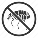 bug, control, flea, insect, parasite, pest, stop icon