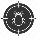 bug, control, insect, mite, parasite, search, target icon