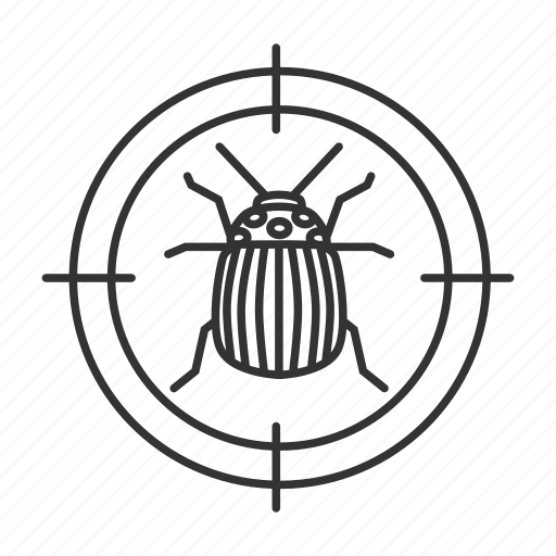 bug, colorado, control, insect, pest, search, target icon