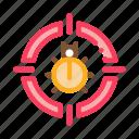 bug, computer, de, target, web icon