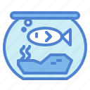 bowl, fish, pet icon