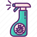 anti, bottle, flea, spray icon