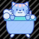 bath, cat, pet