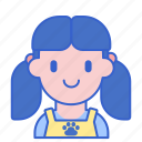 female, groomer, pet icon