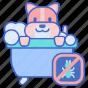 bath, flea, pet icon