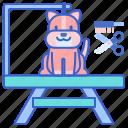 grooming, pet, table