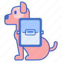 dog, microchip, pet, scanning icon