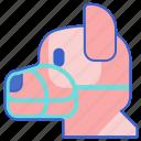 animal, dog, muzzle, pet icon