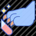 buffing, dog, nail, pet icon