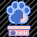 animal, balm, paw, pet icon