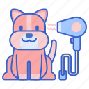 blower, dryer, pet, animal icon