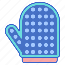 dog, glove, grooming, pet icon