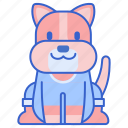 animal, dog, outfit, pet icon