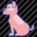 animal, dog, pet, sitting icon
