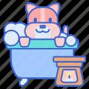 animal, dog, pet, spa icon