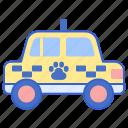 animal, dog, pet, taxi icon