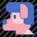animal, dog, pet, wig icon