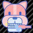 brushing, pet, teeth, dog