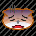 cat, cute, depress, emoticon, stress icon