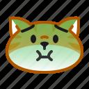 cat, cute, emoticon, puke, sick, sickness icon