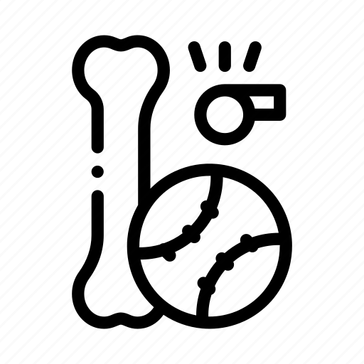 ball, pet, pit, shop, whistle icon