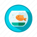 aquarium, fish, water icon