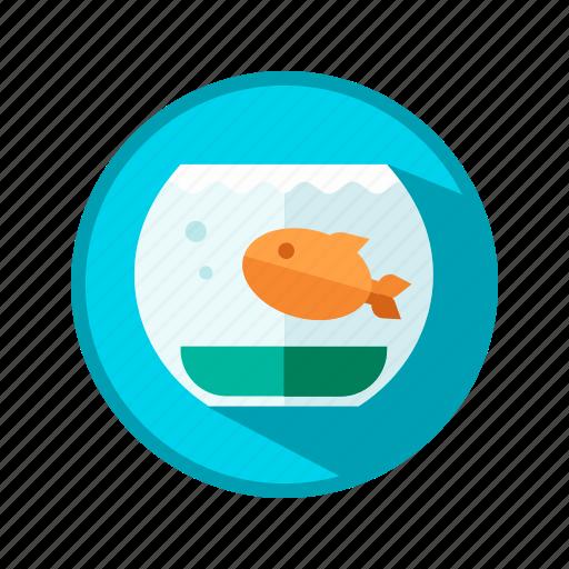 aquarium, fish, water icon