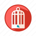 animal, bird, cage icon