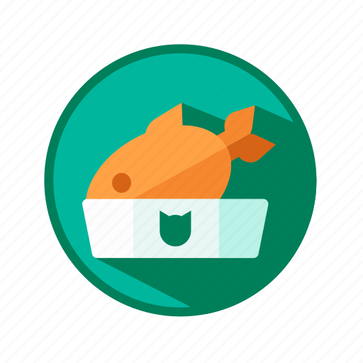 bowl, cat, feed, fish, seafood icon
