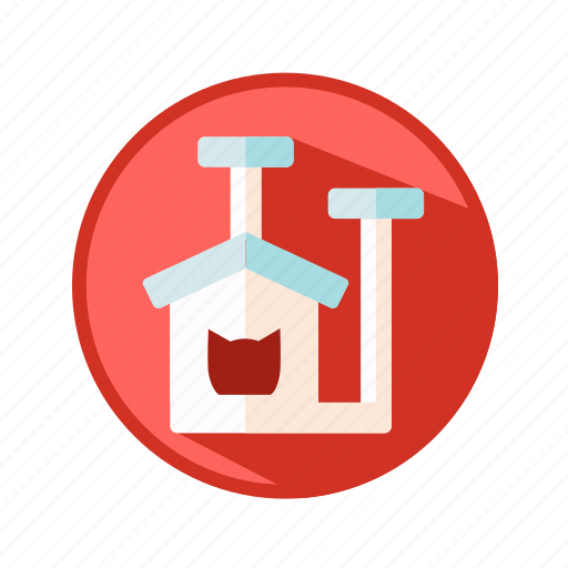 animals, cat, house, lodge, toy icon