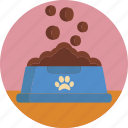 animal, bowl, cat, dog, food, indoor, petshop icon