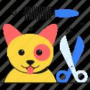 scissor, dog, pet, grooming, pet brush, pet beauty icon