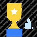 champion, trophy, like, winner, cup, reward, success icon
