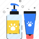 liquid soap, shampoo, pet, cleaning, clean, washing icon