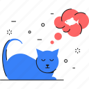 animal, cat, fish, desire, craving icon