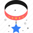 pet collar, star, award, pet, medal, dog, winner icon