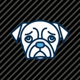 canine, dog, dog head, pet, pet shop icon