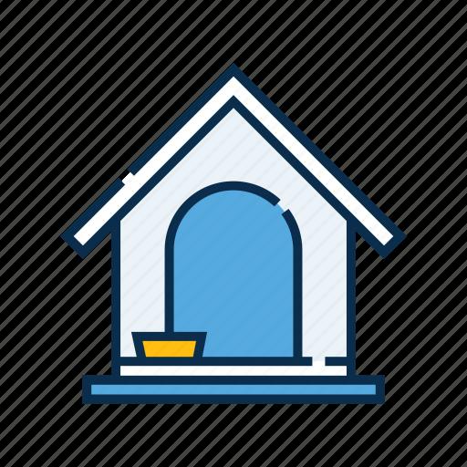 dog, dog house, kennel, pet, pet shop icon