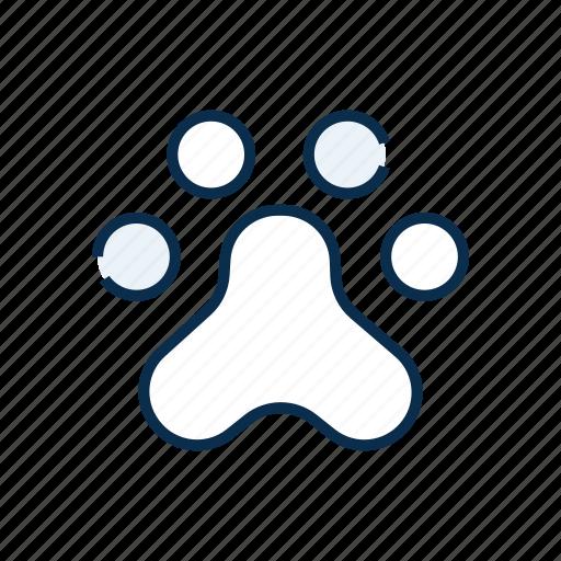 animal, footprints, paw, paw print, pet, pet shop icon