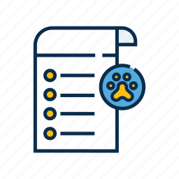 check list, checkup, health care, pet check up, pet shop, report icon