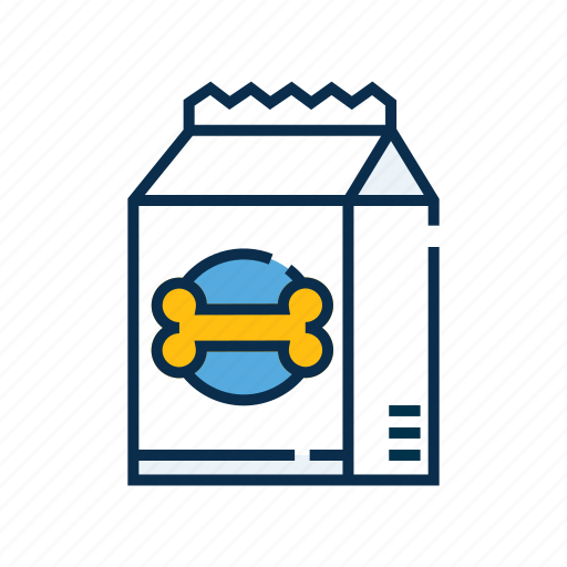 Pet food bag, food, pet shop, food bag, pet, pet snack icon