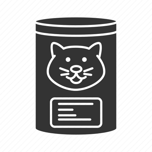 can, canned, cat, feed, food, meal, pet icon